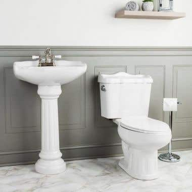 Oxford Matching Sink & Toilet Set - 4 Inch Faucet Drillings