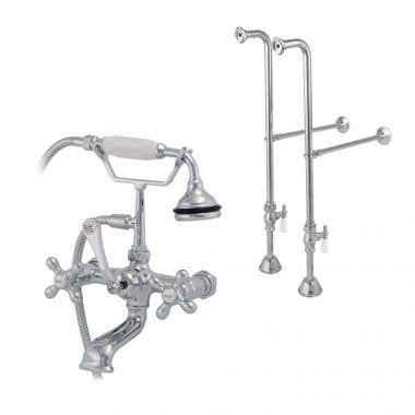 Randolph Morris Freestanding British Telephone Clawfoot Tub Faucet with Handshower