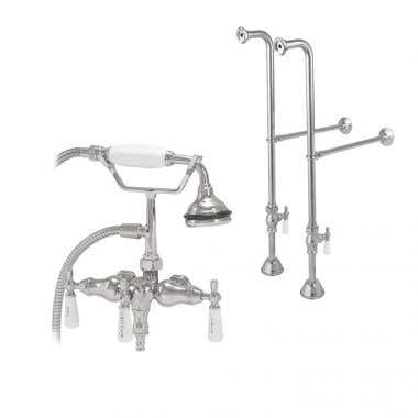 Randolph Morris Freestanding Downspout Clawfoot Tub Faucet with Handshower