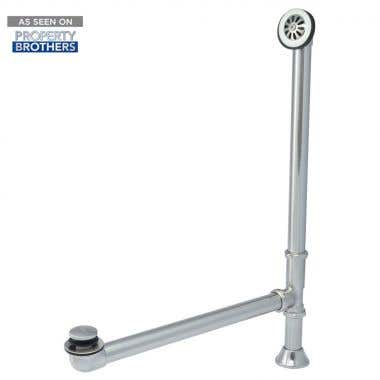 Chrome Toe Tapper Pop-Up Clawfoot Tub Drain