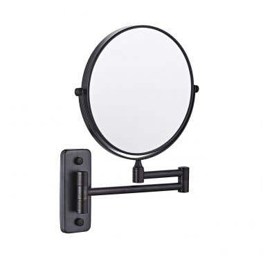 Brushed Nickel - Kally Collection Round Wall Mount Bathroom Mirror