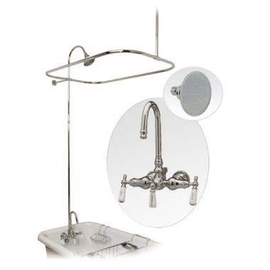 Randolph Morris Randolph Morris Claw Foot Tub Shower Enclosure with Metal Showerhead