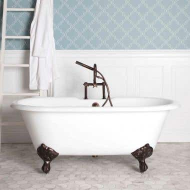 Kensington Cast Iron Double Ended Clawfoot Tub - Oil Rubbed Bronze