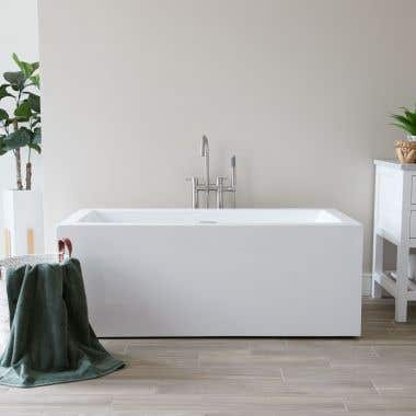 Grafton 60 Inch Acrylic Double Ended Freestanding Tub