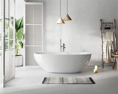 Ainsley 71 Inch Freestanding Double End Tub