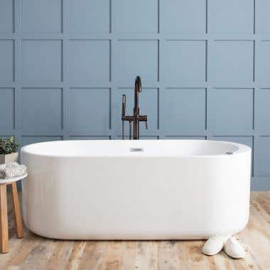 Zephyr Double Ended Freestanding Hydro-Massage Tub