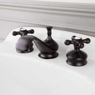 Randolph Morris Widespread Bathroom Sink Faucet with Metal Cross Handles