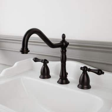Randolph Morris Victorian Widespread Bathroom Sink Faucet with Metal Lever Handles