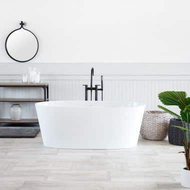 Gloss White - Solano CapeStone Double Ended Tub