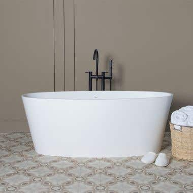 Sora 61 Inch Resin Double Ended Tub