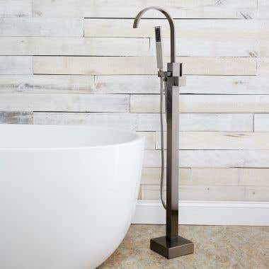Contemporary Freestanding Gooseneck Tub Faucet