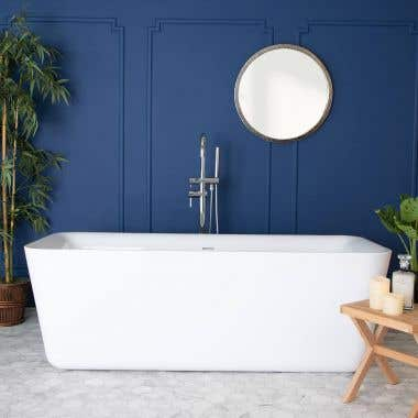 Emily 69 Inch Acrylic Double Ended Freestanding Tub - No Faucet Drillings