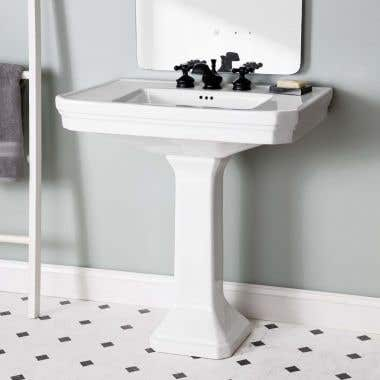 32 Inch Pedestal Sink - 8 Inch Faucet Drillings