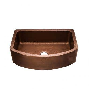 30 INCH COPPER SINGLE BOWL APRON FARMHOUSE SINK