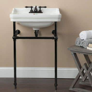 Console Lavatory Sink - 4 Inch Faucet Drillings