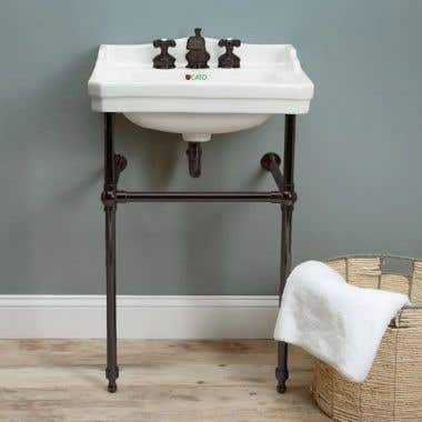 Console Lavatory Sink - 8 Inch Faucet Drillings