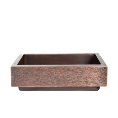 30 Inch Retro Fit Copper Single Bowl Apron Farmhouse Sink