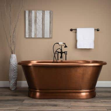 Haden 66 Inch Copper Freestanding Double Ended Bathtub