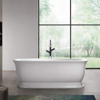 Royal 59 Inch Acrylic Double Ended Freestanding Tub - No Faucet Drillings