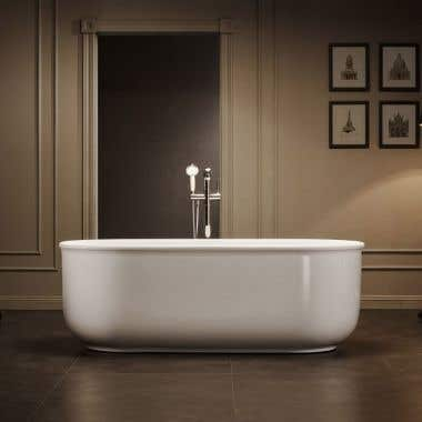 Taft 59 Inch Acrylic Double Ended Freestanding Tub - No Faucet Drillings