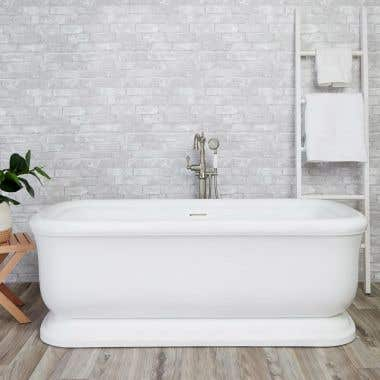 Top View - Sundance 67 Inch Acrylic Double Ended Freestanding Tub - No Faucet Drillings