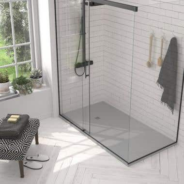 Stone Shower Base - Gray Slate