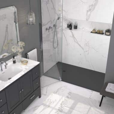 Stone Shower Base - Anthracite Slate
