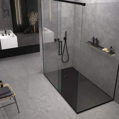 60 x 32 Stone Shower Base - Black