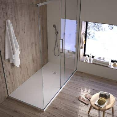 60 x 32 Stone Shower Base - White Smooth