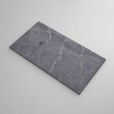 60 x 32 Stone Shower Base - Gray Marble