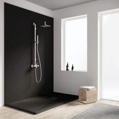 Lifestyle View - Resin Shower Base - Slate