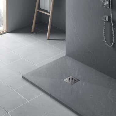 Lifestyle View - Resin Shower Base - Slate Gray
