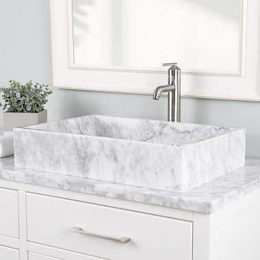 Lily Marble Rectangular Vessel Sink