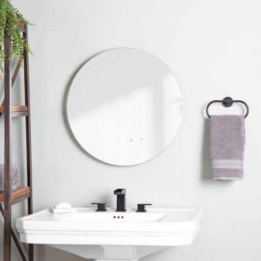 Life View - Lily Lighted Round Bathroom Mirror with Anti-Fog
