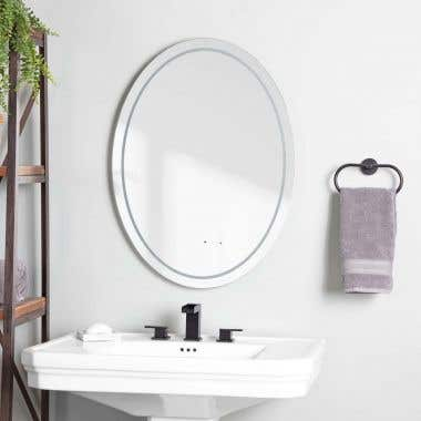 Life View - Lily Lighted Oval Bathroom Mirror with Anti-Fog