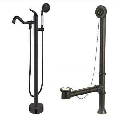 Clawfoot Tub Freestanding Faucet Complete Set
