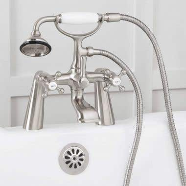 Mason Hill Collection Clawfoot Tub Deck Mount English Telephone Faucet with Handshower