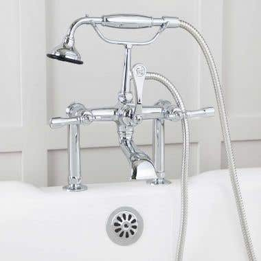 Mason Hill Collection Clawfoot Tub Deck Mount English Telephone Faucet with Handshower - Chrome