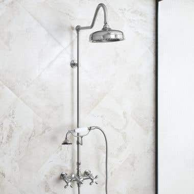 Mason Hill Collection Exposed Cross Handle Shower Set with Handshower