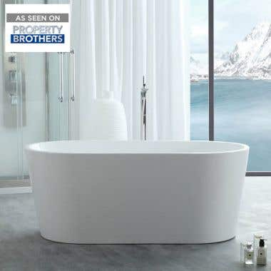 Chloe Acrylic Double Ended Freestanding Tub - No Faucet Drillings