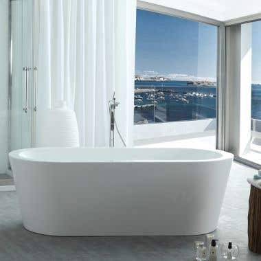 Wyatt 67 Inch Acrylic Double Ended Freestanding Tub - No Faucet Drillings