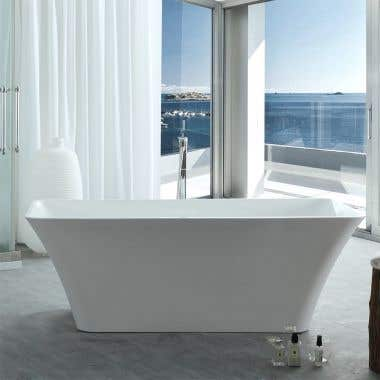 Lily 67 Inch Acrylic Double Ended Freestanding Tub