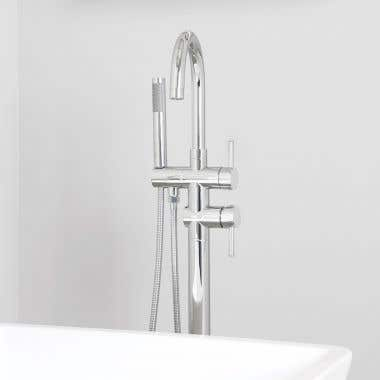 Contemporary High Flow Freestanding Tub Faucet