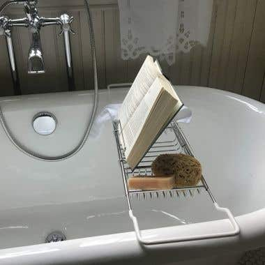Adjustable Tub Caddy with Reading Rack