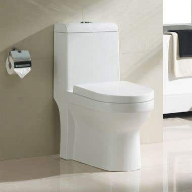Philo Modern Elongated One-Piece Toilet with Seat