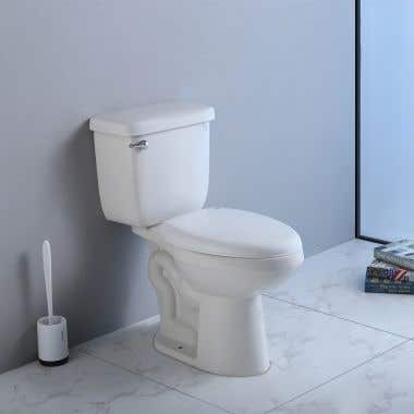 Royal Modern Elongated Two Piece Toilet with Seat - White
