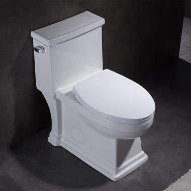 Bristol Traditional Elongated One-Piece Toilet with Seat - White