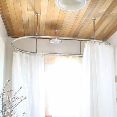 Clawfoot Tub Oval Shower Enclosure - 30 x 54 Inch
