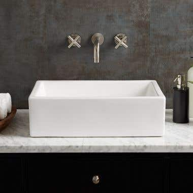 Helen Rectangular Vessel Bathroom Sink