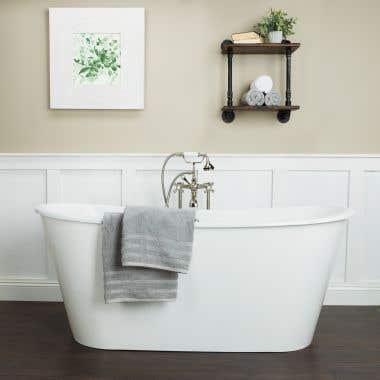 Randolph Morris 67 Inch Cast Iron Double Ended Skirted Tub